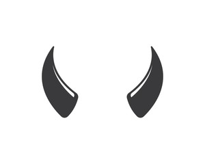 devil horn,animal horn logo icon vector
