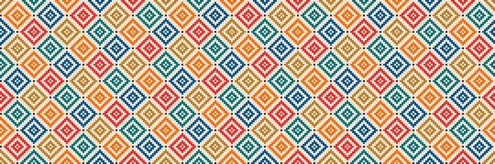 Aztec like style pattern illustration