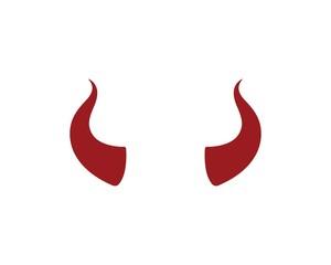 devil horn,animal horn logo icon vector