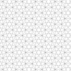 Merkaba of Life - Seamless Vector Sacred Geometry Patterns For Layer Masks Black