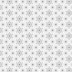 Diamond of Life - Seamless Vector Sacred Geometry Patterns For Layer Masks Black