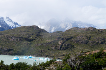 Icebergs on Grey Lake, Chile, Torres del Paine