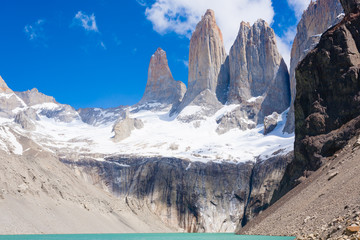 Torres del Paine peaks view, Chile landmark