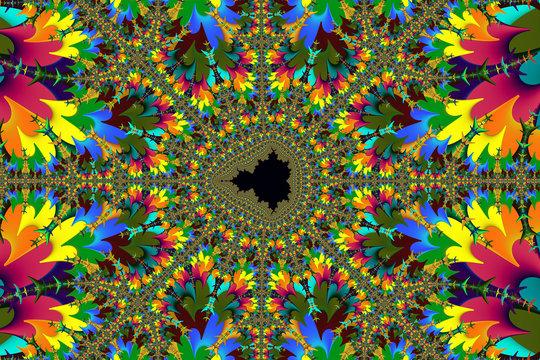 Psychedelic Mandelbrot Set Fractal