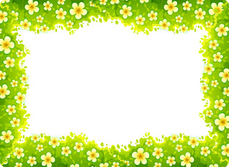daisy nature frame concept