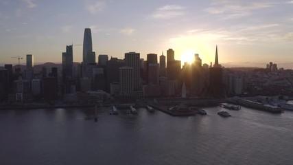 Fototapete - San Francisco aerial downtown skyline buildings