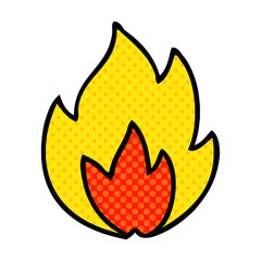 comic book style cartoon fire