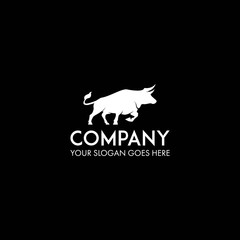 bull logo design template vector
