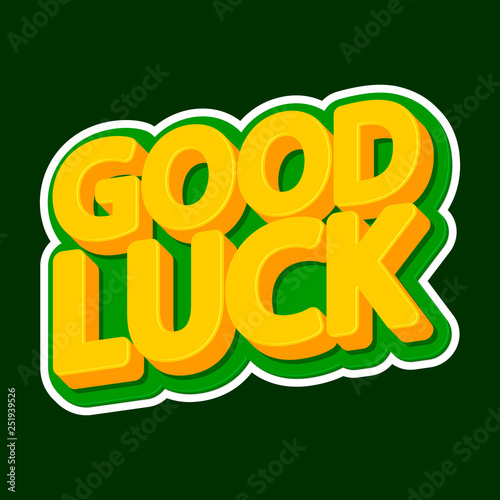 Good Luck, isolated sticker design template, Patricks Day symbol