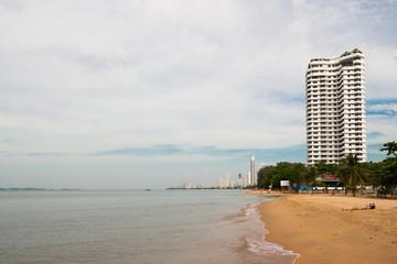 Pattaya, Kingdom of Thailand, December 10, 2018: - View of Jomtien Beach
