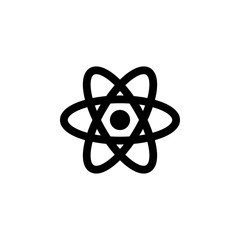 Atom science icon design template vector isolated