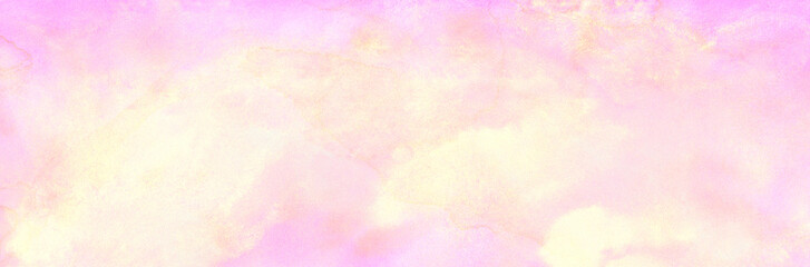 Pale grunge red, pink and yellow shades grunge watercolor background. Aquarelle paint paper...