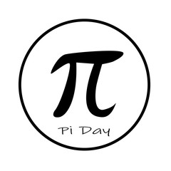 happy pi day icon on white background. flat style. pi day icon for your web site design, logo, app, UI. pi symbol. pi sign.