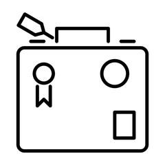 Briefcase Holidays Vector Icon