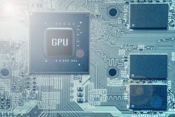 graphic processing unit (GPA) chip set on computer VGA card
