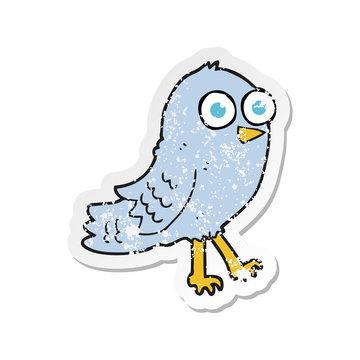 retro distressed sticker of a cartoon bird