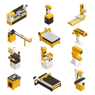 Industrial Machinery Icons Set