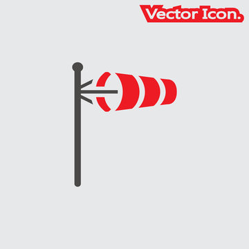 wind direction indicator icon isolated sign symbol and flat style for app, web and digital design. Vector illustration.