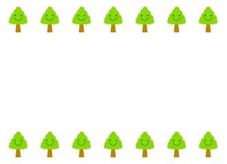 木のキャラクターのフレーム