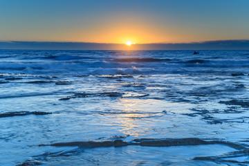 The Blues Sunrise Seascape