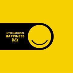 International Happiness Day Vector Template Design Illustration