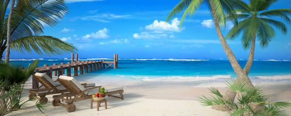 Couple beach vacation