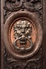 Old brass knocker