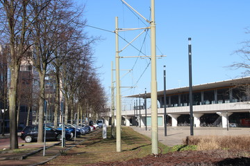 Former tram station at Voorburg train station in the Netherlands
