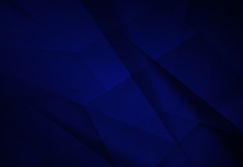 Abstract dark blue polygonal mosaic background