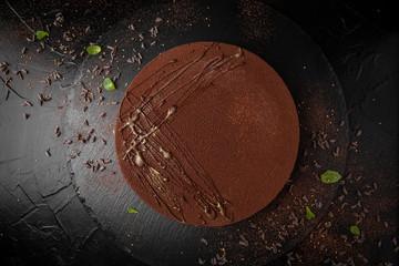 Classic chocolate cheesecake. Gentle delicious dessert