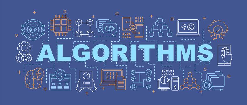 Algorithms word concepts banner