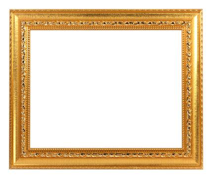 Gold Vintage Frame ISOLATED on White Background.