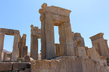 Ruins of Persepolis, Iran, the ceremonial capital of the Achaemenid Empire