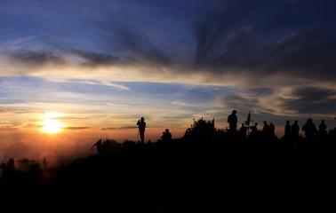Sunrise in Merbabu Mountain