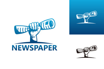 Newspaper Logo Template Design Vector, Emblem, Design Concept, Creative Symbol, Icon