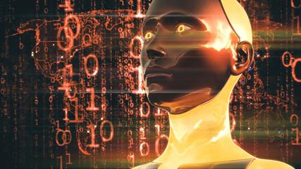 Artificial Intelligence High Tech Digital Hacker War