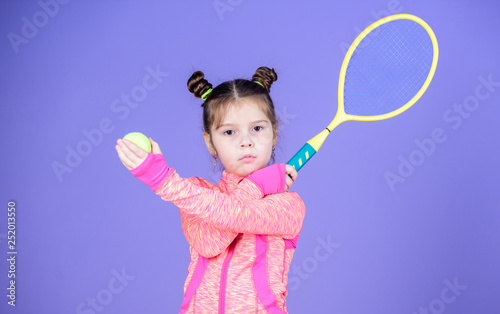 Active games  Sport upbringing  Small cutie likes tennis