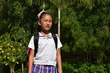 Filipina Girl Student And Confusion