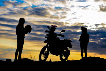 motorcycle travel, freedom and lifestyle