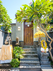 door with statues in Bali Indonesia
