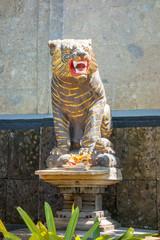 a tiger statue in Bali Indonesia