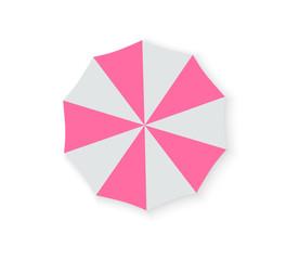 Set of beach umbrellas