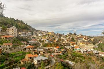 Beautiful view to Gerakies village. Cyprus, February 2019