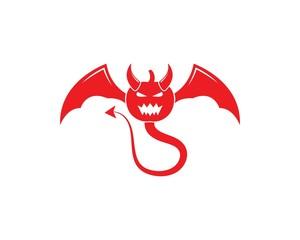 Devil logo vector template illustration