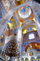 YEKATERINBURG, RUSSIA. Interior of the Cathedral on the Blood in the name of all Saints in the Russian Land in Ekaterinburg