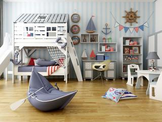 3d render cozy shild room
