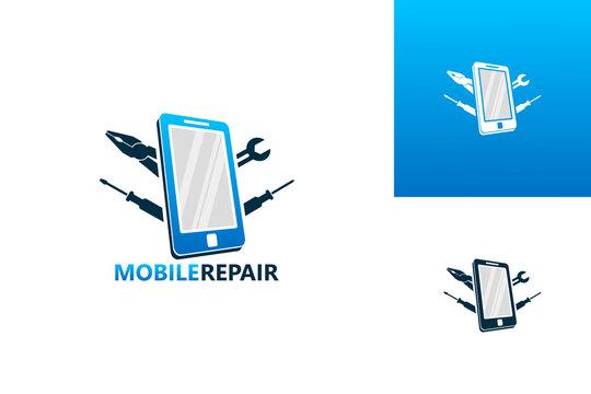 Mobile Repair Logo Template Design Vector, Emblem, Design Concept, Creative Symbol, Icon