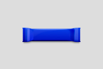 Chocolate Bar packaging blank pack empty template.Mock up.Realistic photo. 3D rendering.Snack Bar.