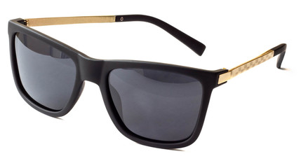 Black and gold isolated sunglasses