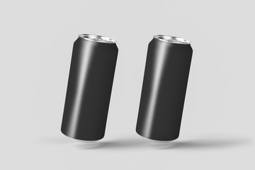 Realistic Can for beer, soda, lemonade, juice, energy drink.Blank with copy space. 3D rendering. Mock up template ready for your design.